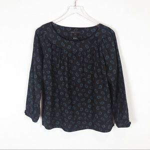 Marc Jacobs | Long Sleeve Scoop Neck Paisley Top